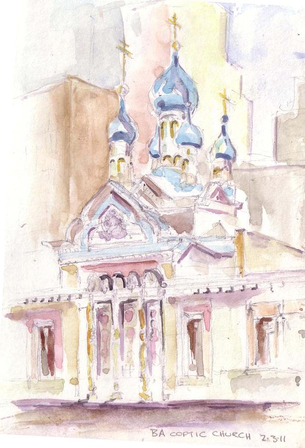 Coptic Church Beaunos Aires Painting by David  Hawkins
