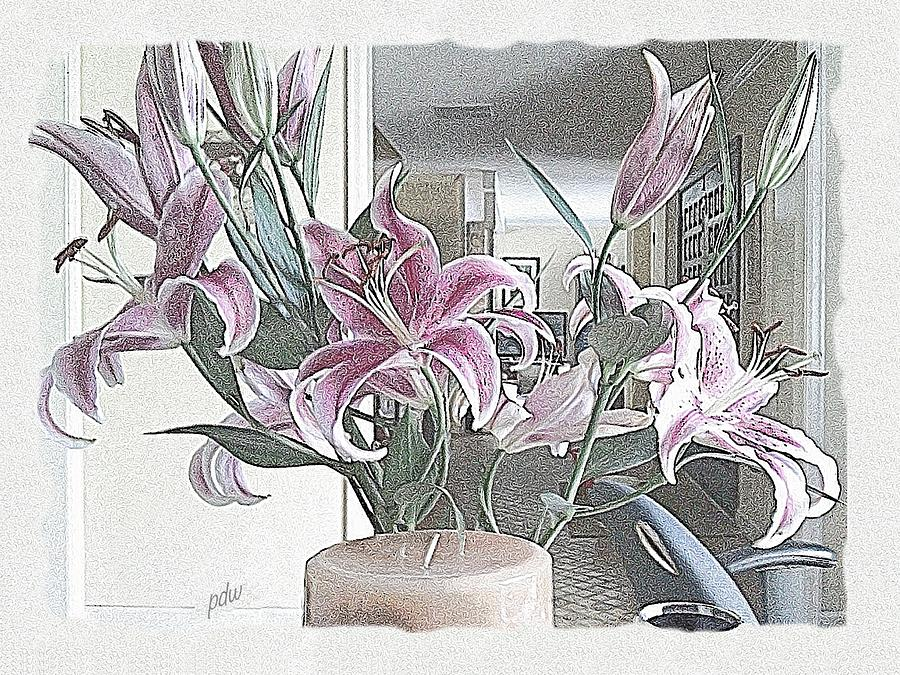 Scenic Drawing - Coquille Lilies by Philip White