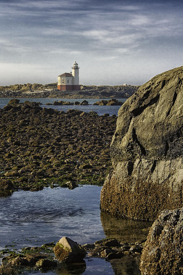 Lighthouse Photograph - Coquille River Lighthouse by Jeanne Hoadley