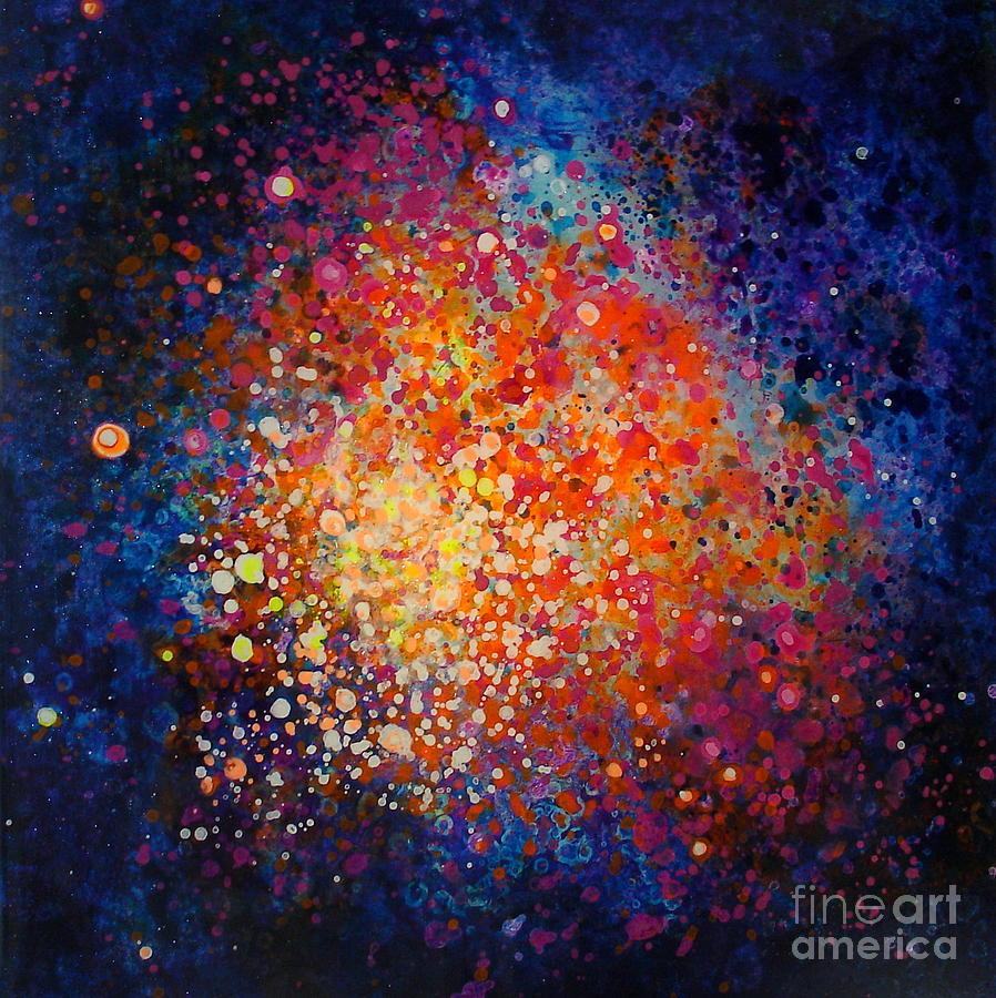 Blues Painting - Coral Nebula #2 by Freddie Lieberman