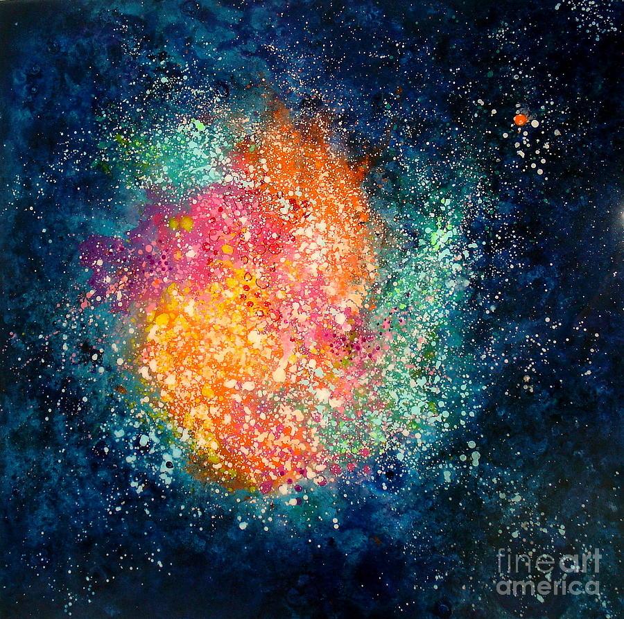 Nebula Painting - Coral Nebula by Freddie Lieberman