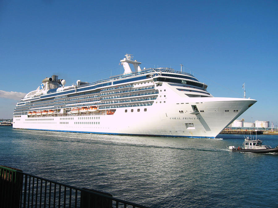 Cruise Ship Photograph - Coral Princess by Shoal Hollingsworth