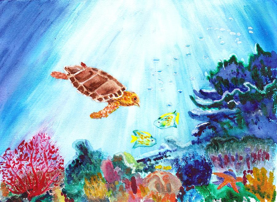 Coral Reef Painting by Donna Walsh