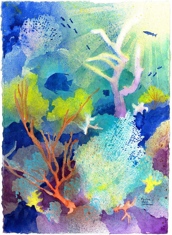 Coral Reefs Painting - Coral Reef Dreams 1 by Pauline Walsh Jacobson