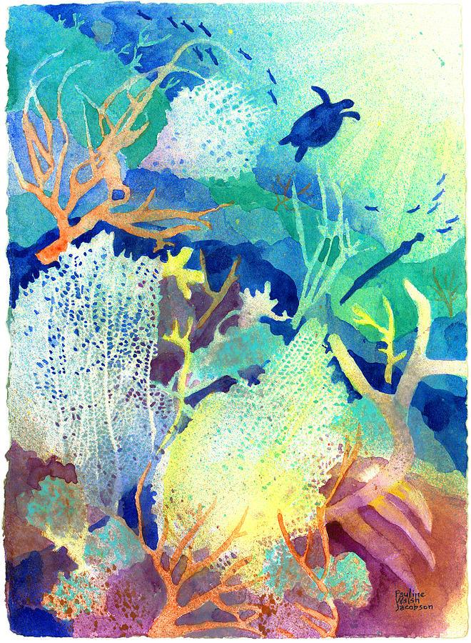 Coral Reefs Painting - Coral Reef Dreams 2 by Pauline Walsh Jacobson