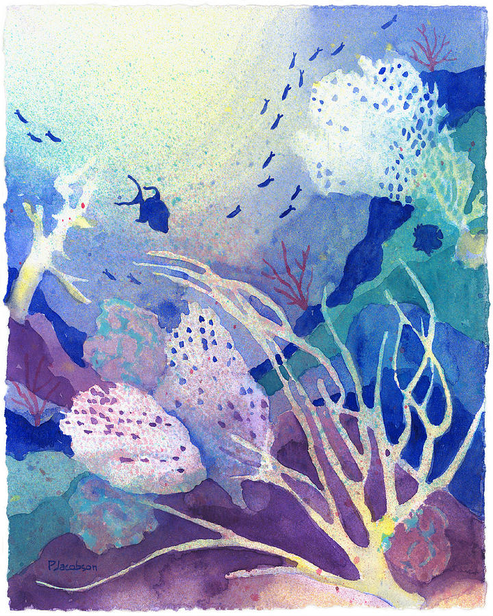 Coral Reefs Painting - Coral Reef Dreams 4 by Pauline Walsh Jacobson
