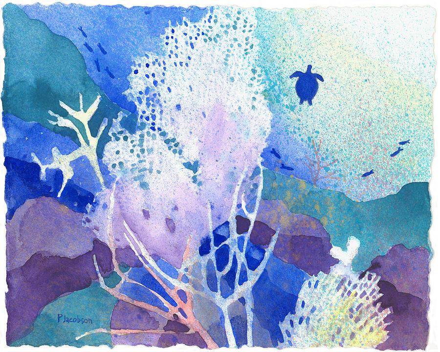 Coral Reefs Painting - Coral Reef Dreams 5 by Pauline Walsh Jacobson