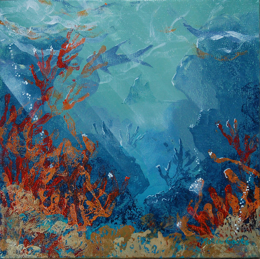Coral Reef Mixed Media by Robin Coats