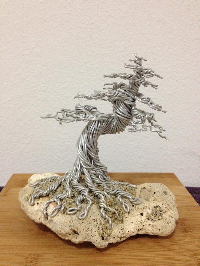 Bonsai Sculpture - Coral Tree II by Alejandro Barreto