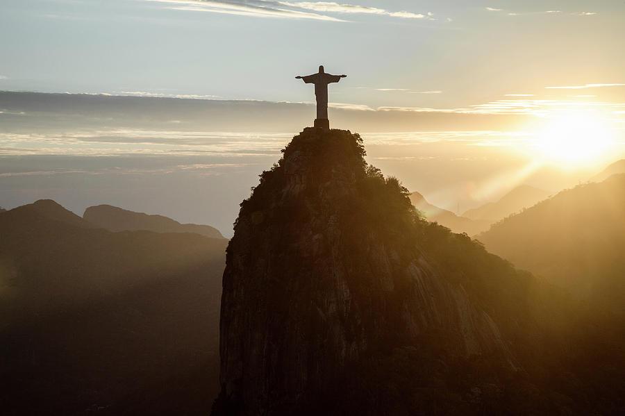 Corcovado At Sunset, Rio De Janeiro Photograph by Christian Adams