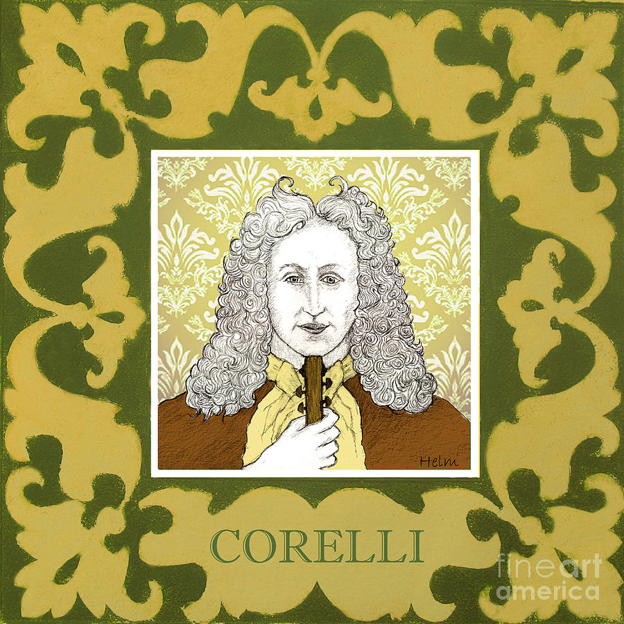 Corelli Drawing - Corelli by Paul Helm