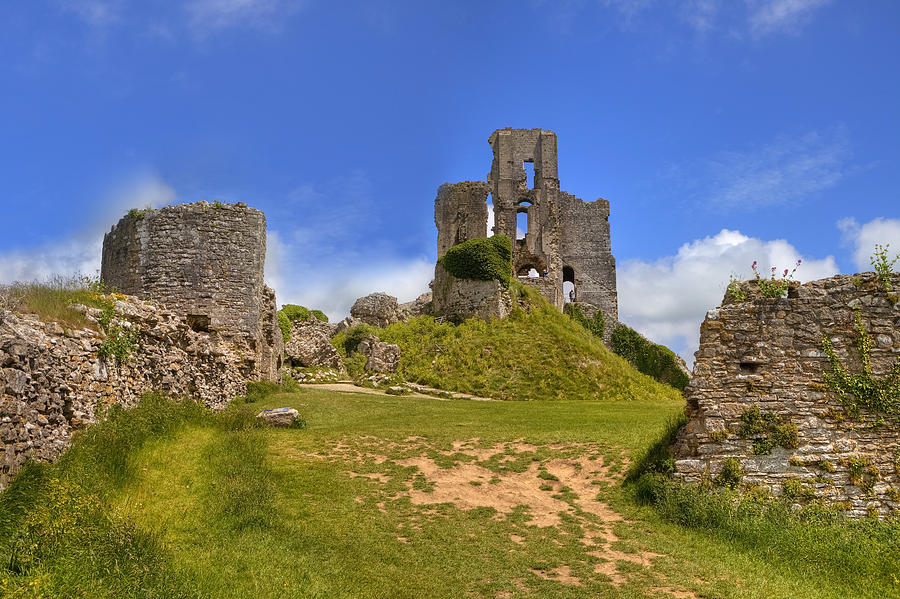Corfe Castle Photograph - Corfe Castle by Joana Kruse