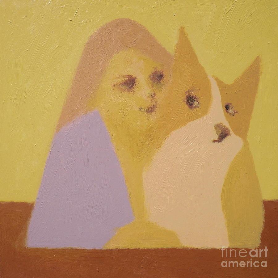 Corgi Painting - Corgi And Woman V.3 by Max Yamada