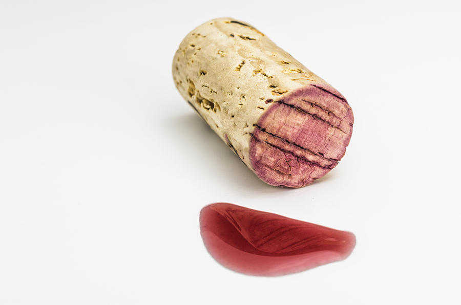 Alcohol Photograph - Cork With Red Wine by Paulo Goncalves