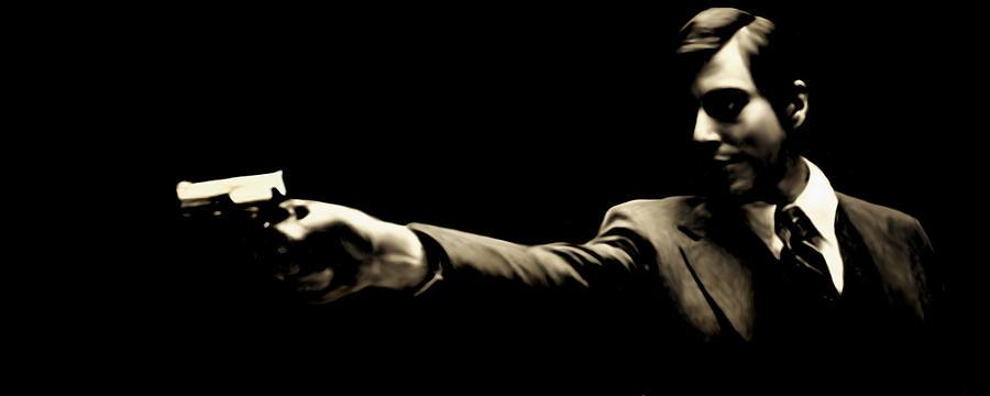 Mafia Painting - Corleone by Laurence Adamson