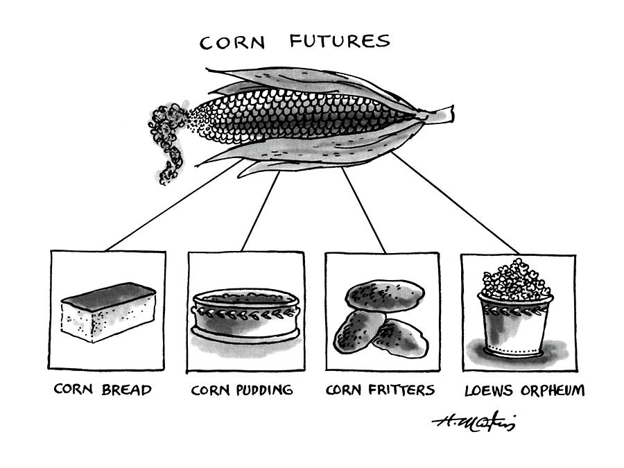 Corn Furures Drawing by Henry Martin