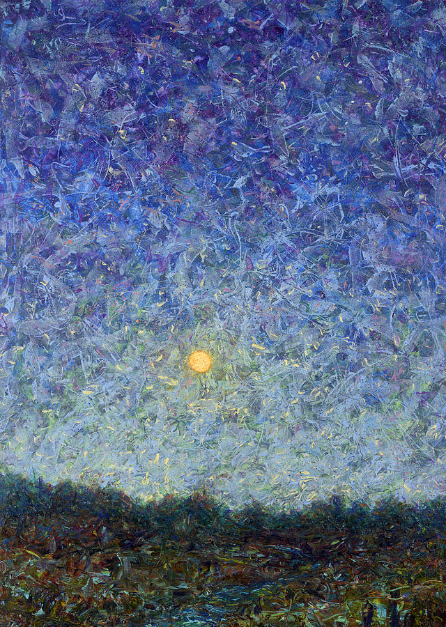 Cornbread Painting - Cornbread Moon by James W Johnson