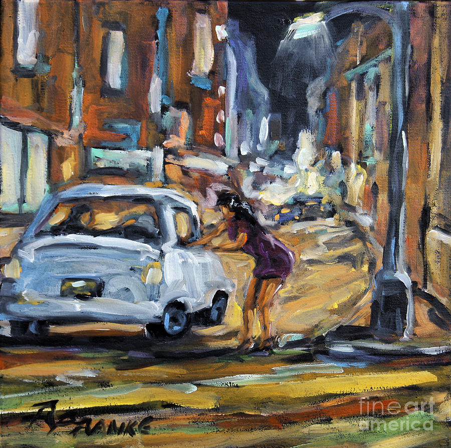 Canada Painting - Corner Deal By Prankearts by Richard T Pranke