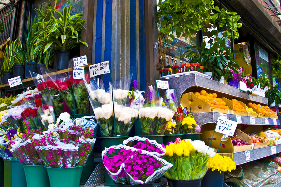 Street Corners Photograph - Corner Flower Stand by Larry Goss