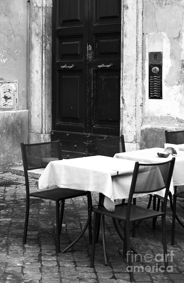 Corner Table Photograph - Corner Table by John Rizzuto