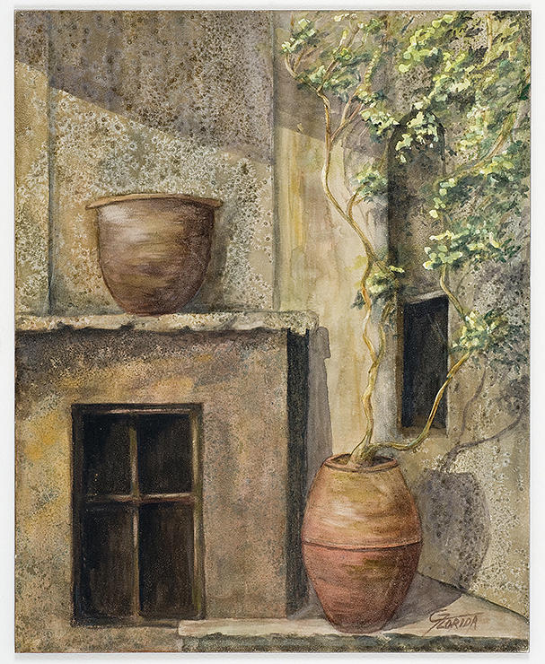 Clay Pots Painting - Cornerstone by Csilla Florida