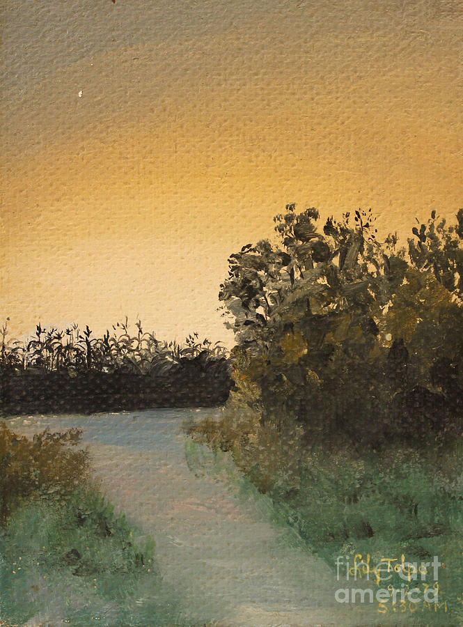 Cornfield at 530AM by Art By Tolpo Collection