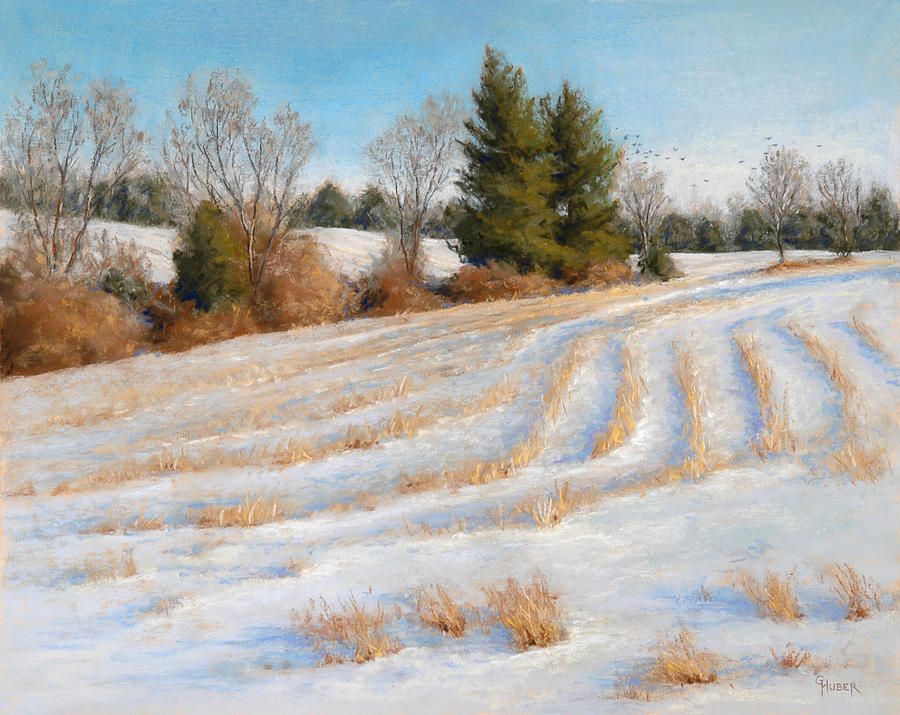 Pastel Painting - Cornfield Curves by Gary Huber