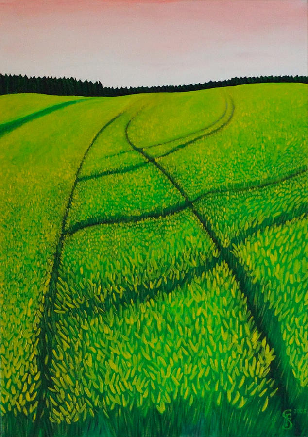 Cornfield Painting - Cornfield by Sven Fischer