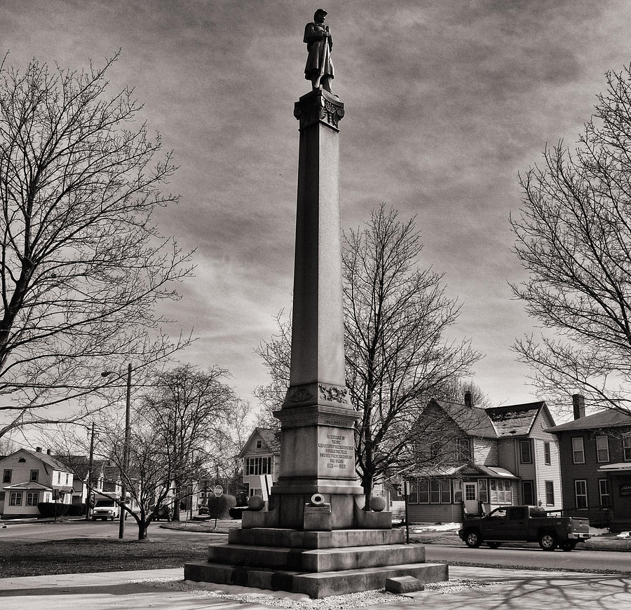 Joshua House Photography Photograph - Corning Civil War Monument by Joshua House