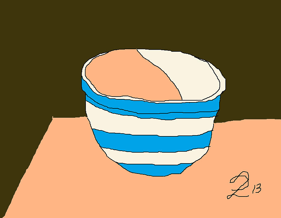 Cornish Painting - Cornish Bowl by Anita Dale Livaditis