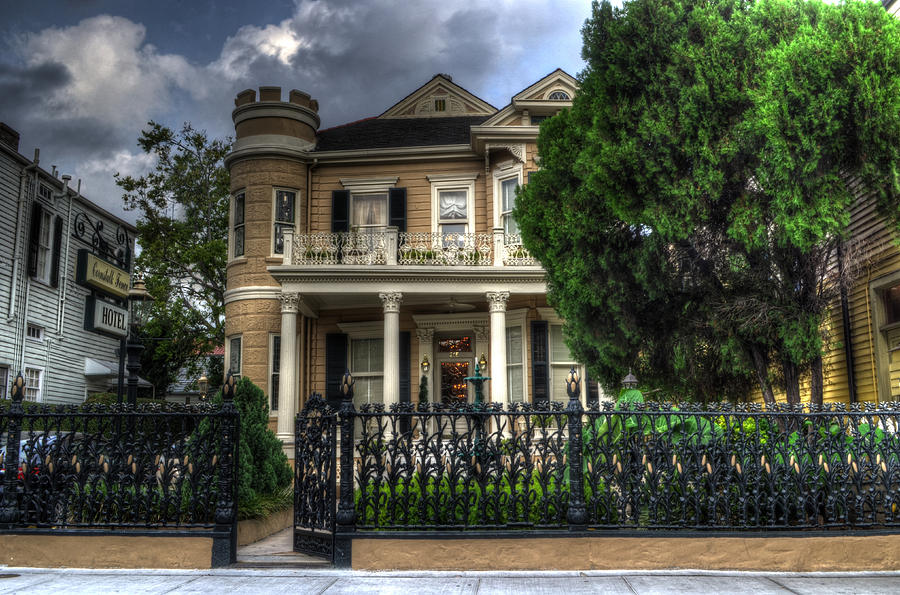 New Orleans Photograph - Cornstalk Fence Hotel by Greg and Chrystal Mimbs