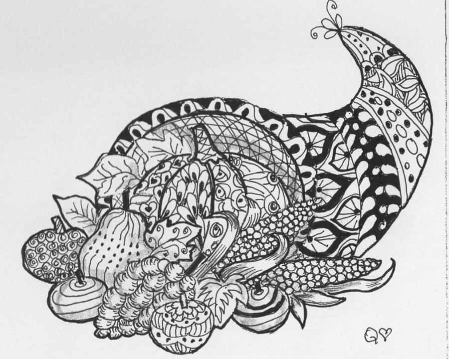 difficult thanksgiving coloring pages - photo#27
