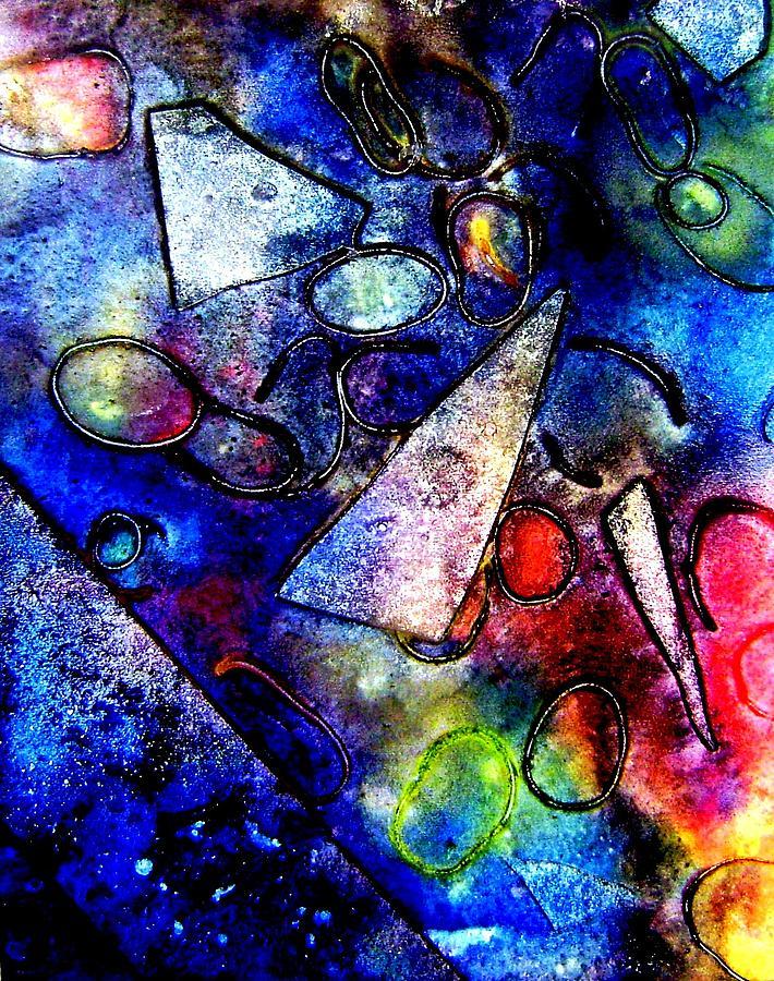 Abstract Mixed Media - Cornucopia by John  Nolan