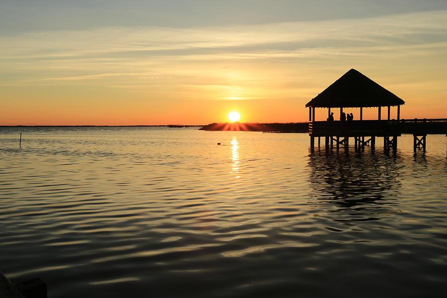 Corolla North Carolina Obx outer Banks corolla Nc Sunset Evening Landscape Photograph - Corolla Sunset by Brenda Schwartz