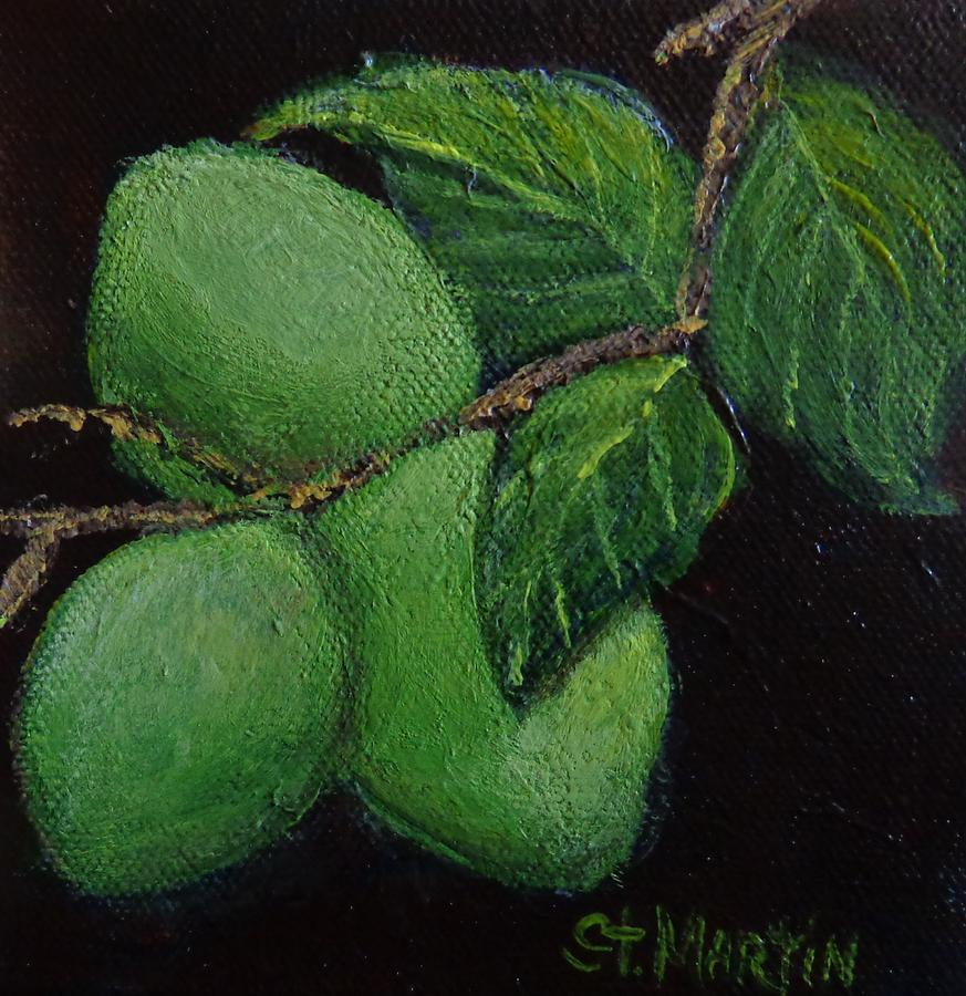 Limes Painting - Corona And Lime by Annie St Martin