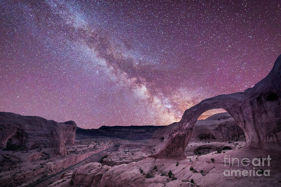 Sunset Photograph - Corona Arch Milky Way by Michael Ver Sprill