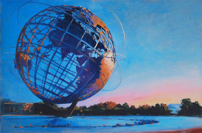 Patrick Saunders Painting - Corona Park by Patrick Saunders
