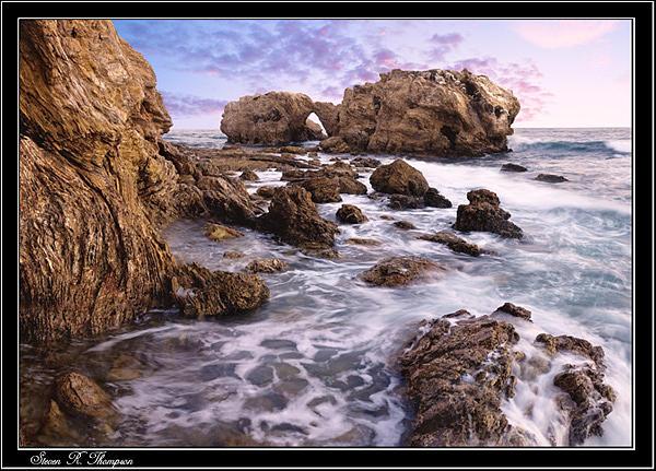 Seascape Photograph - Corona Rock Outcroppings Seascape by Steven Robert Thompson