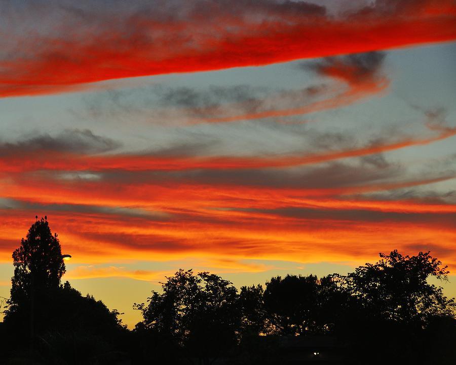 Corona Ca Photograph - Corona Sunset by Jim Robinson