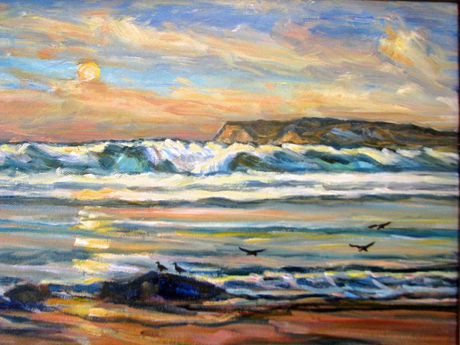 6da633e5fe Coronado Beach Sunset San Diego Painting by Robert Gerdes