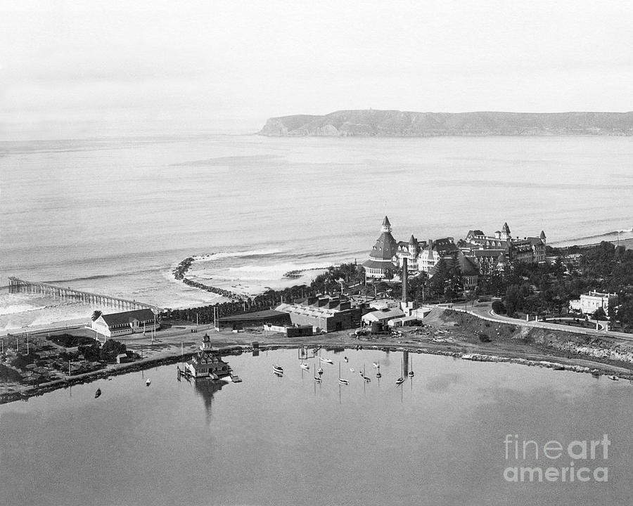 Coronado From Above 1920's by Glenn McNary