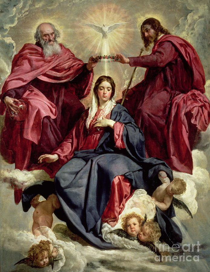 God Painting - Coronation Of The Virgin by Diego Velazquez