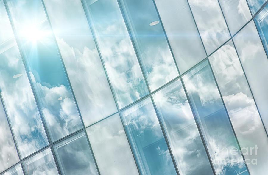 Modern Photograph - Corporate Flare Reflection by Antony McAulay