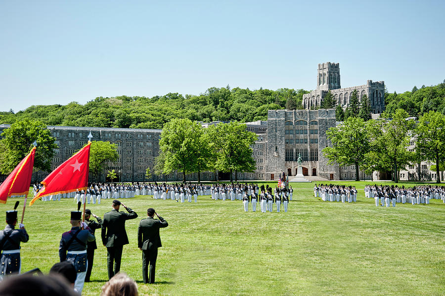 Usma Photograph - Corps Of Cadets Present Arms by Dan McManus