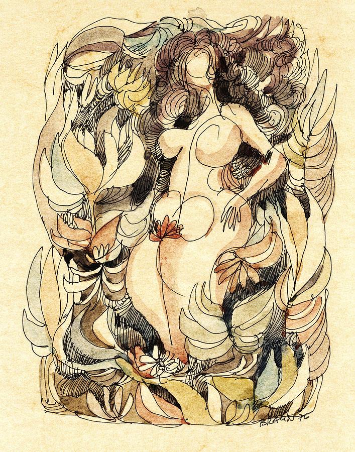 Nude Drawing - Corpulence by Horst Braun