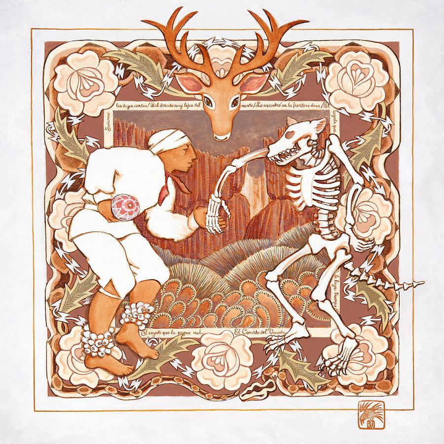 Corrido del Venado y Coyote en la Frontera by Ruth Hooper