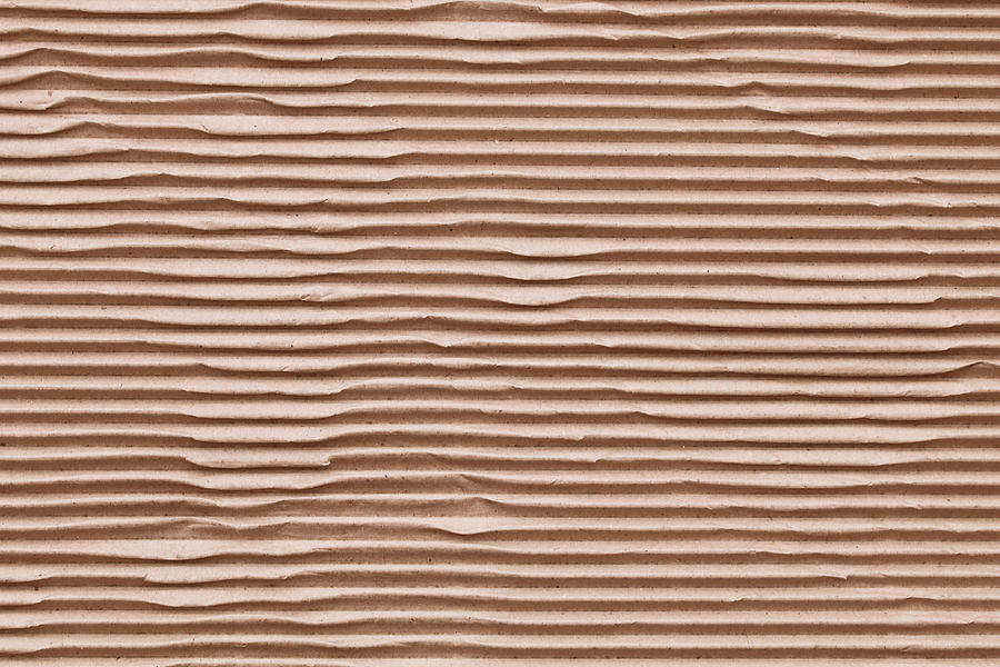 Abstract Photograph - Corrugated Cardboard by Tom Gowanlock
