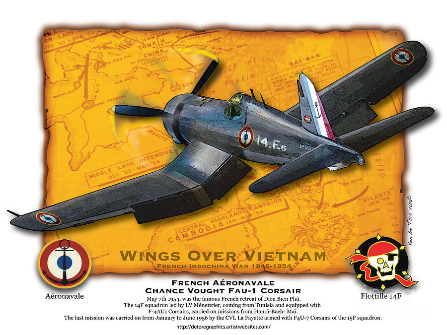 Corsair  Over indochina by Kenneth De Tore