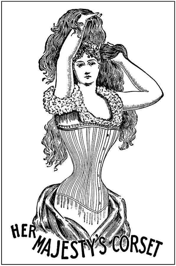 Corset Photograph - Corset Advertisement  1897 by Daniel Hagerman
