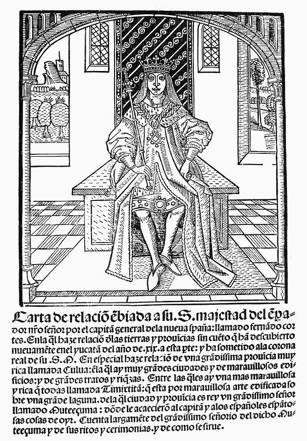 1522 Painting - Cortes Letter, 1522 by Granger